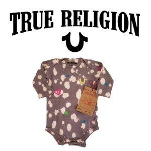 🆕 NWT True Religion Baby's Splatter Paint Onesie